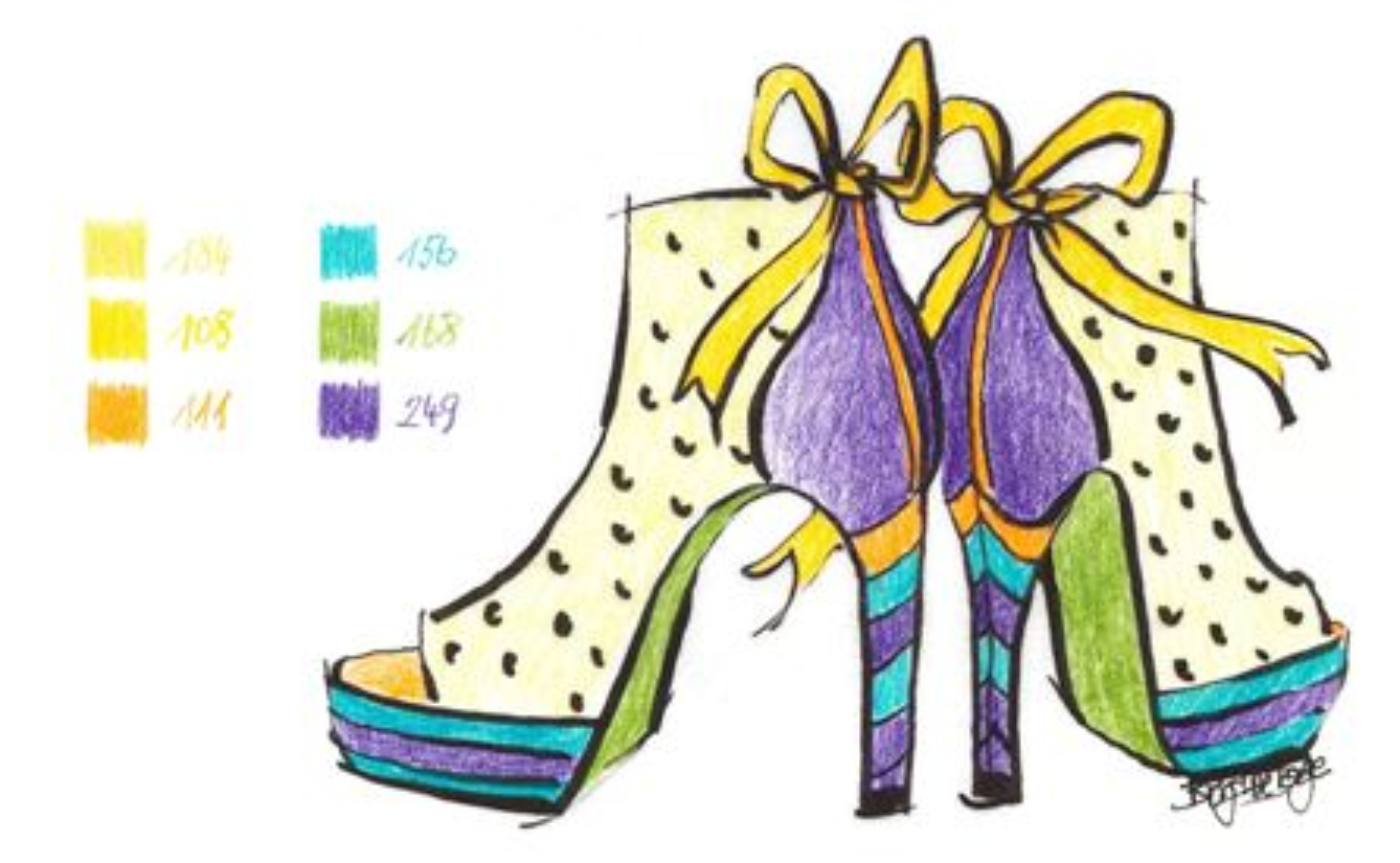 Faber-Castell - Patrones para colorear (fácil/intermedio) : Zapatos