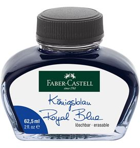 Faber-Castell - Tintero grande, 62,5 ml, azul real borrable