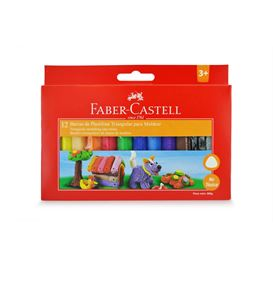 Faber-Castell - Plasticina Jumbo x 12 colores
